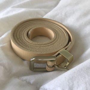 J.Crew Genuine Leather Skinny Belt